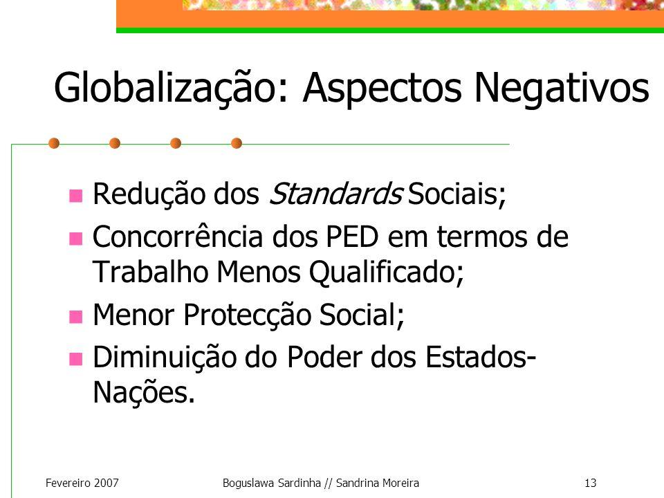 Globalização: Aspectos Negativos