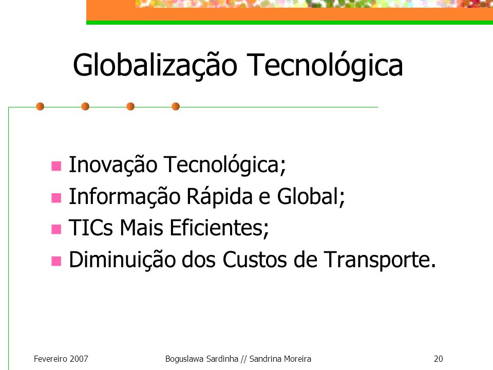 Globalização Tecnológica