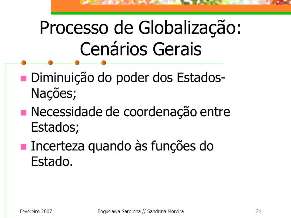 Processo de Globalização: Cenários Gerais