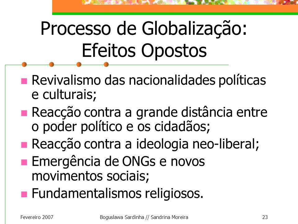 Processo de Globalização: Efeitos Opostos