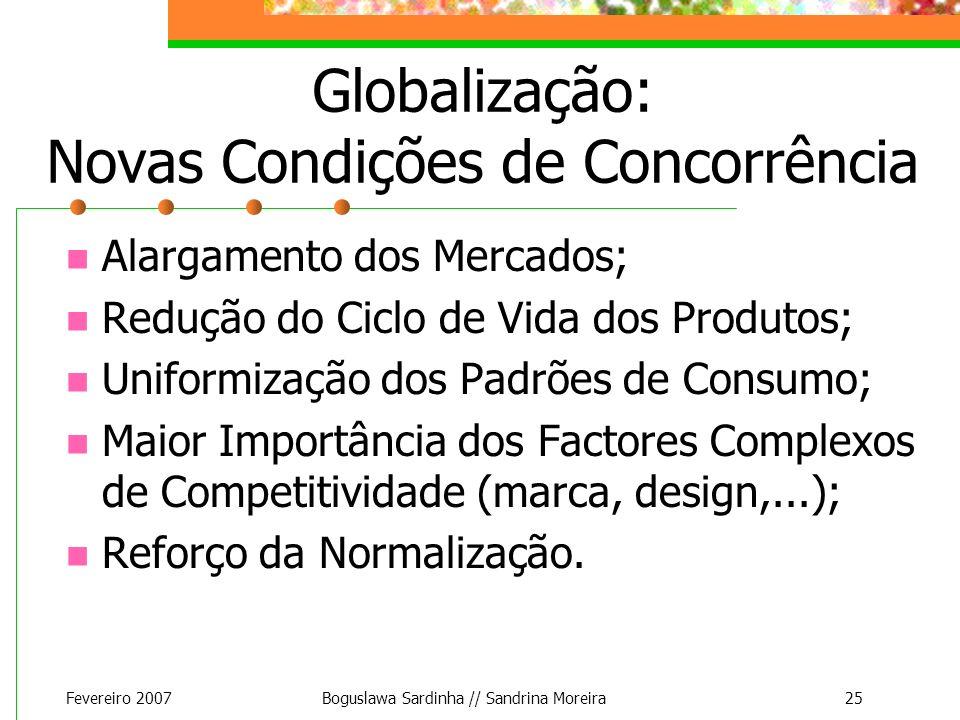 Globalização: Novas Condições de Concorrência