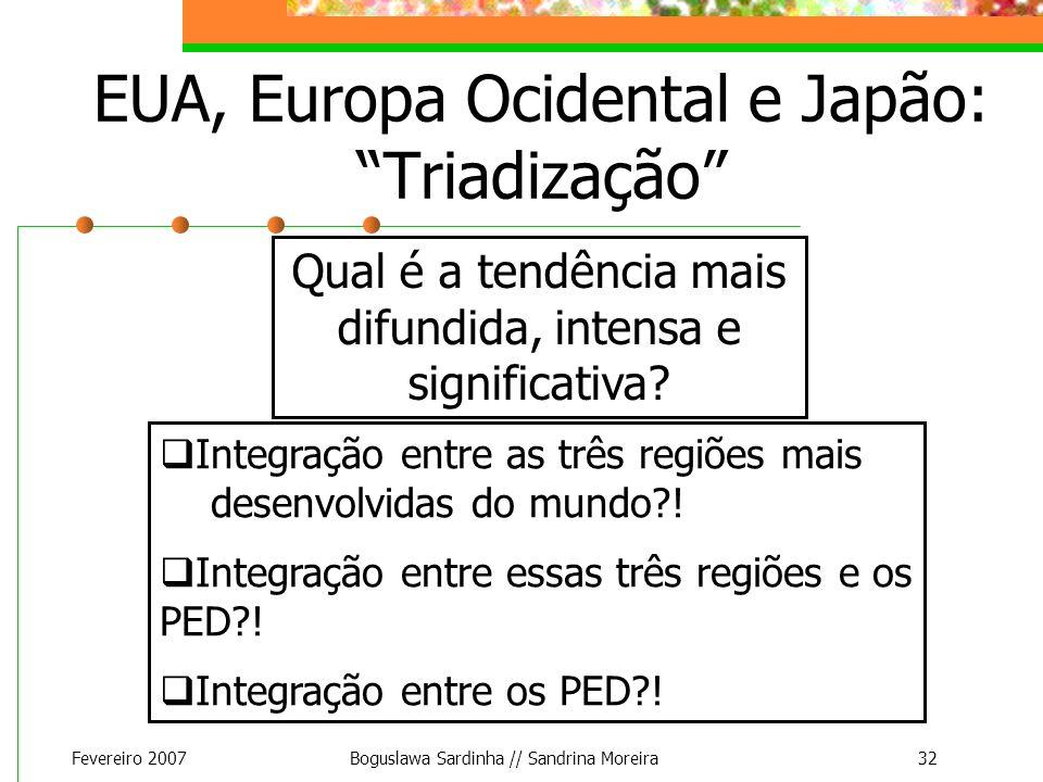 EUA, Europa Ocidental e Japão: Triadização