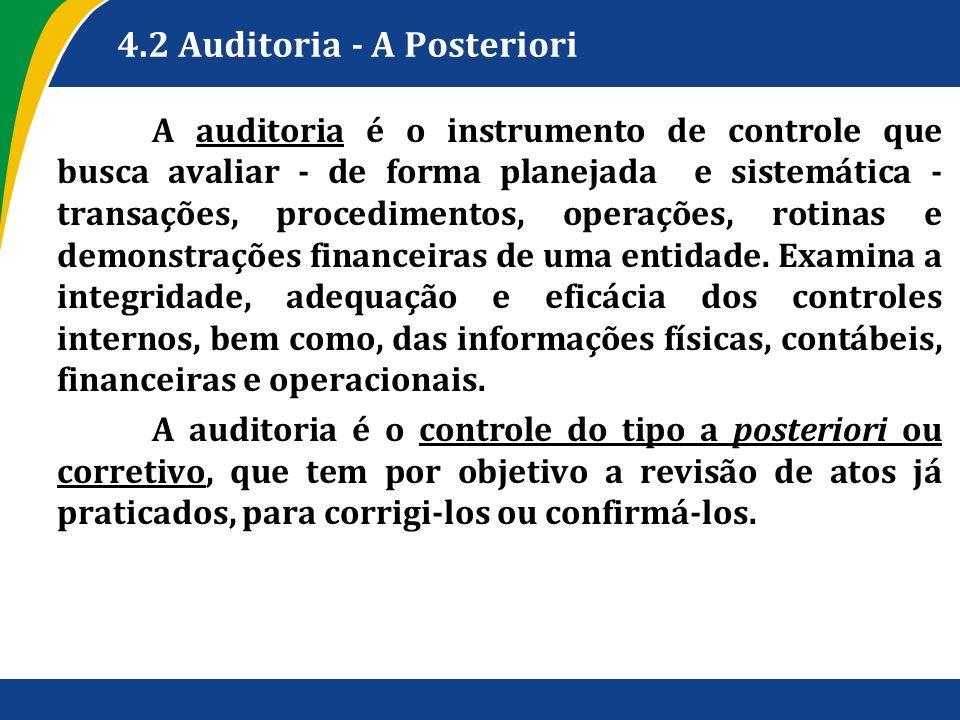 4.2 Auditoria - A Posteriori