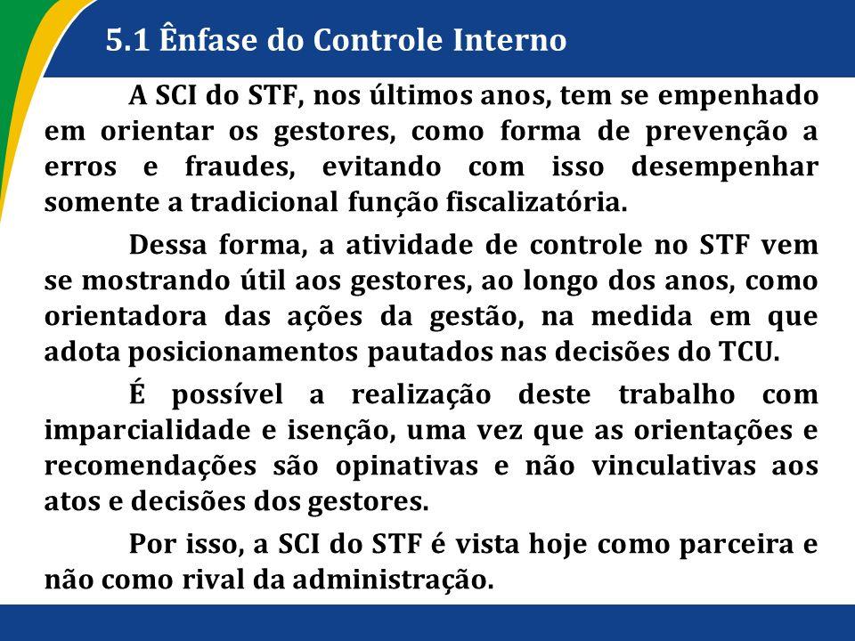 5.1 Ênfase do Controle Interno