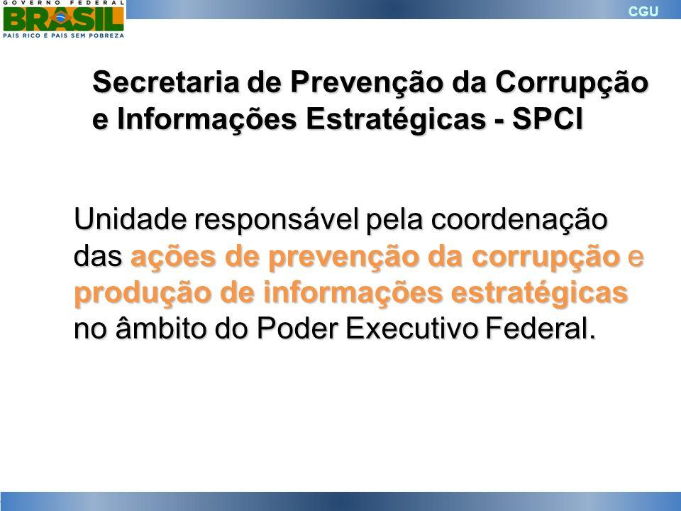 Secretaria de Prevenção da Corrupção e Informações Estratégicas - SPCI