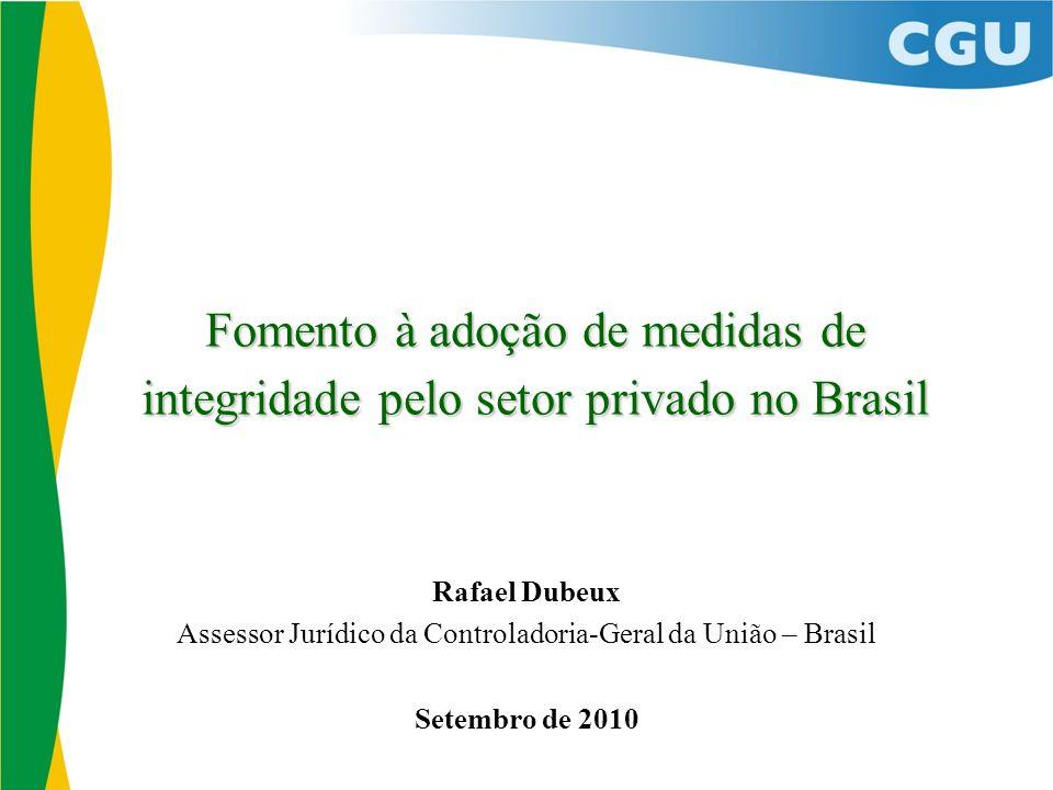 Assessor Jurídico da Controladoria-Geral da União – Brasil