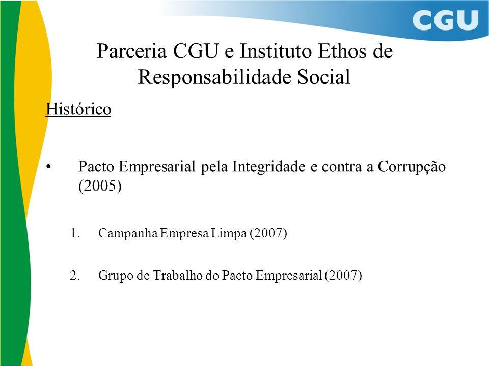 Parceria CGU e Instituto Ethos de Responsabilidade Social