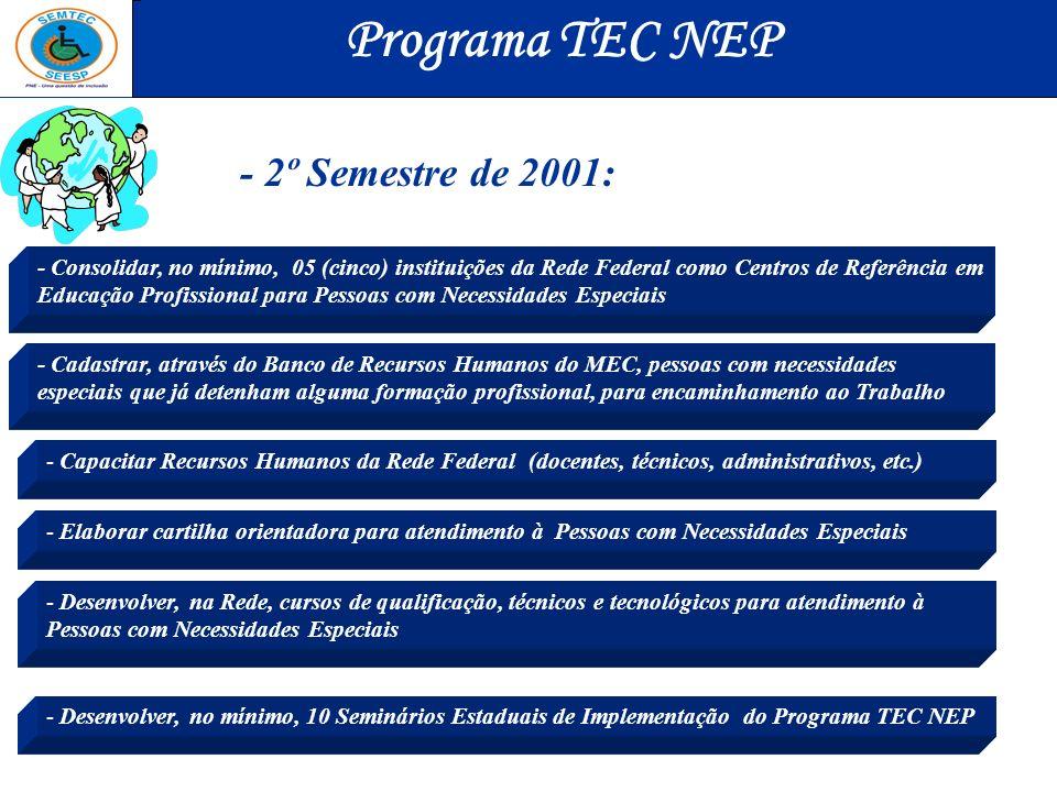 Programa TEC NEP - 2º Semestre de 2001: