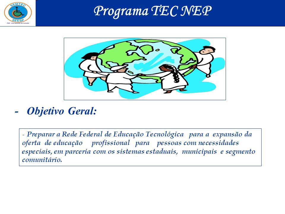 Programa TEC NEP - Objetivo Geral: