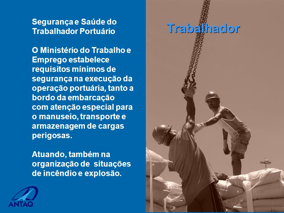 Trabalhador Segurança e Saúde do Trabalhador Portuário