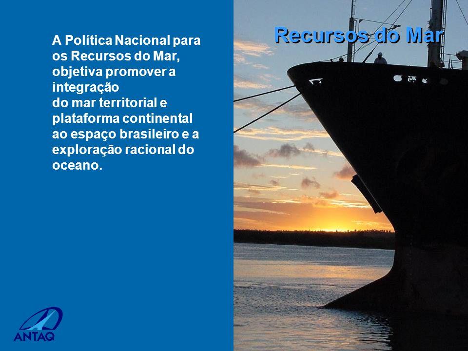 Recursos do Mar A Política Nacional para os Recursos do Mar, objetiva promover a integração.