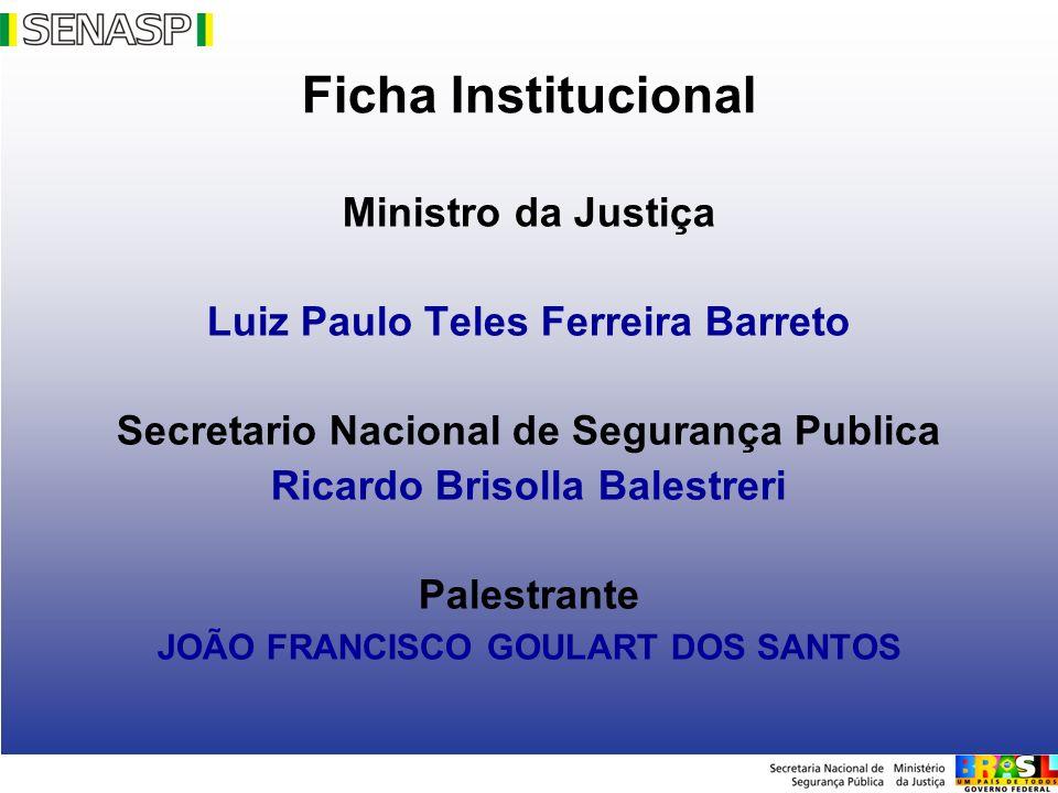 Ficha Institucional Ministro da Justiça