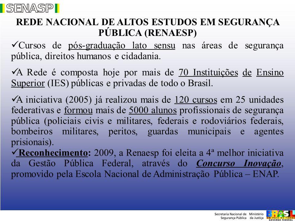 REDE NACIONAL DE ALTOS ESTUDOS EM SEGURANÇA PÚBLICA (RENAESP)