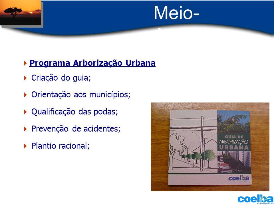 Meio-Ambiente Programa Arborização Urbana Criação do guia;