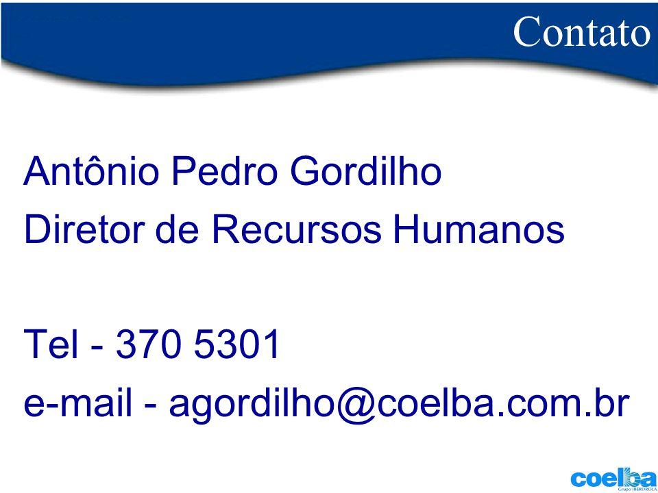 Contato Antônio Pedro Gordilho Diretor de Recursos Humanos