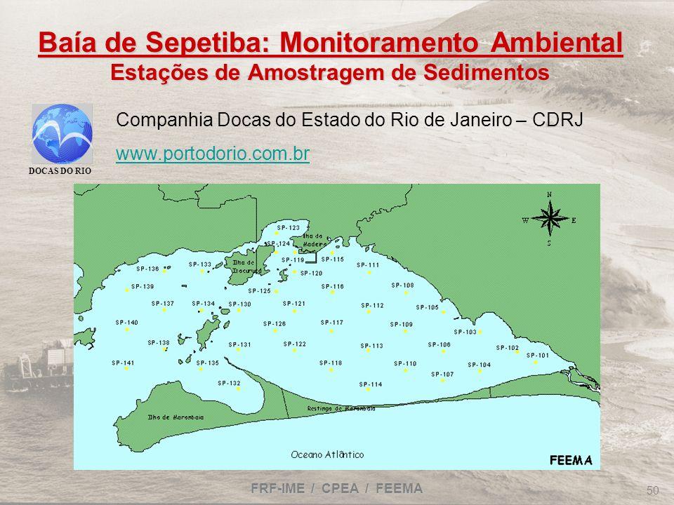 Baía de Sepetiba: Monitoramento Ambiental Estações de Amostragem de Sedimentos
