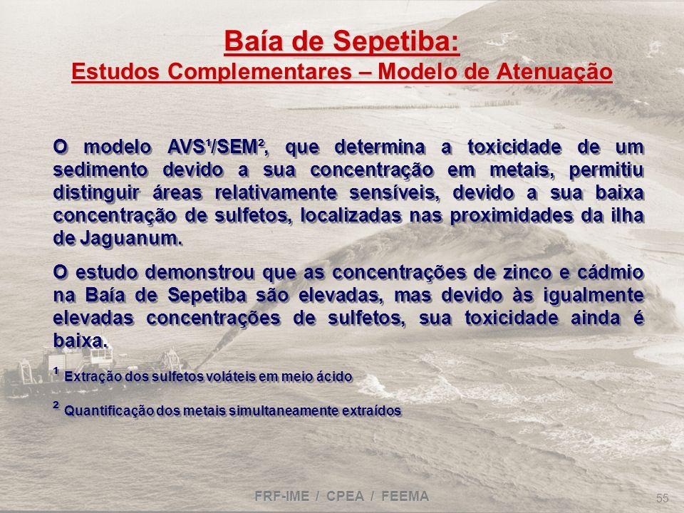 Baía de Sepetiba: Estudos Complementares – Modelo de Atenuação