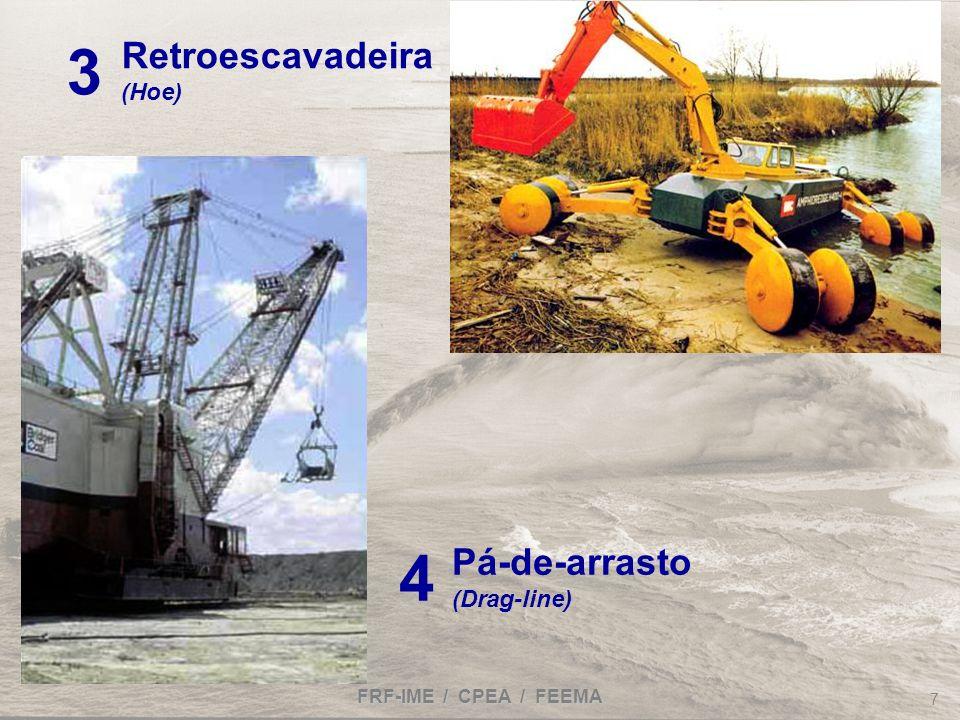 3 4 Retroescavadeira Pá-de-arrasto (Hoe) (Drag-line)
