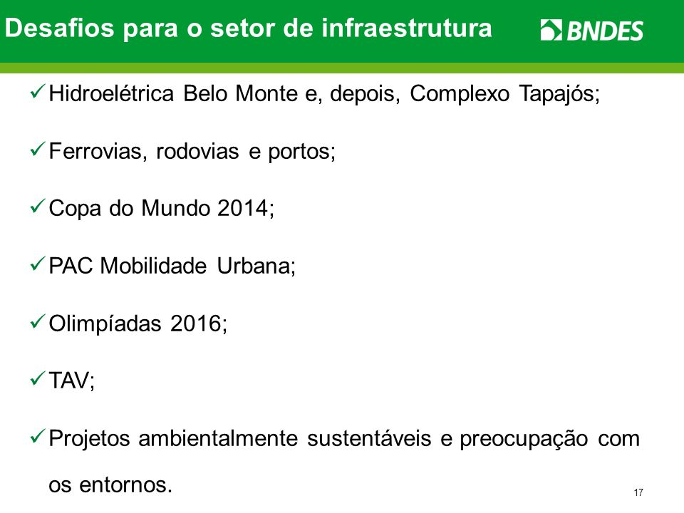 Desafios para o setor de infraestrutura