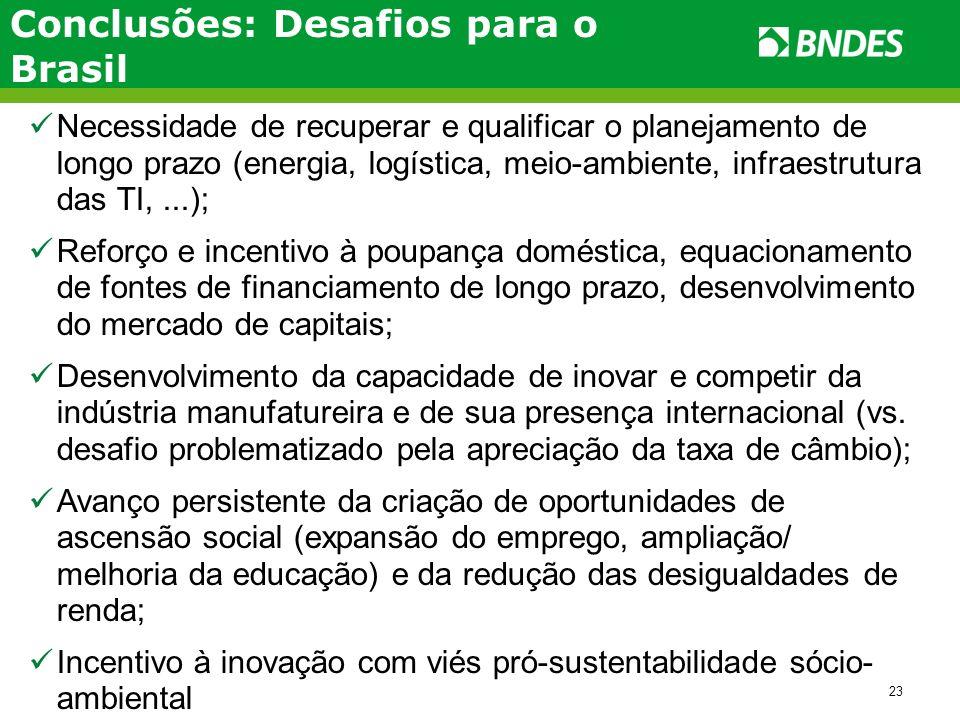 Conclusões: Desafios para o Brasil