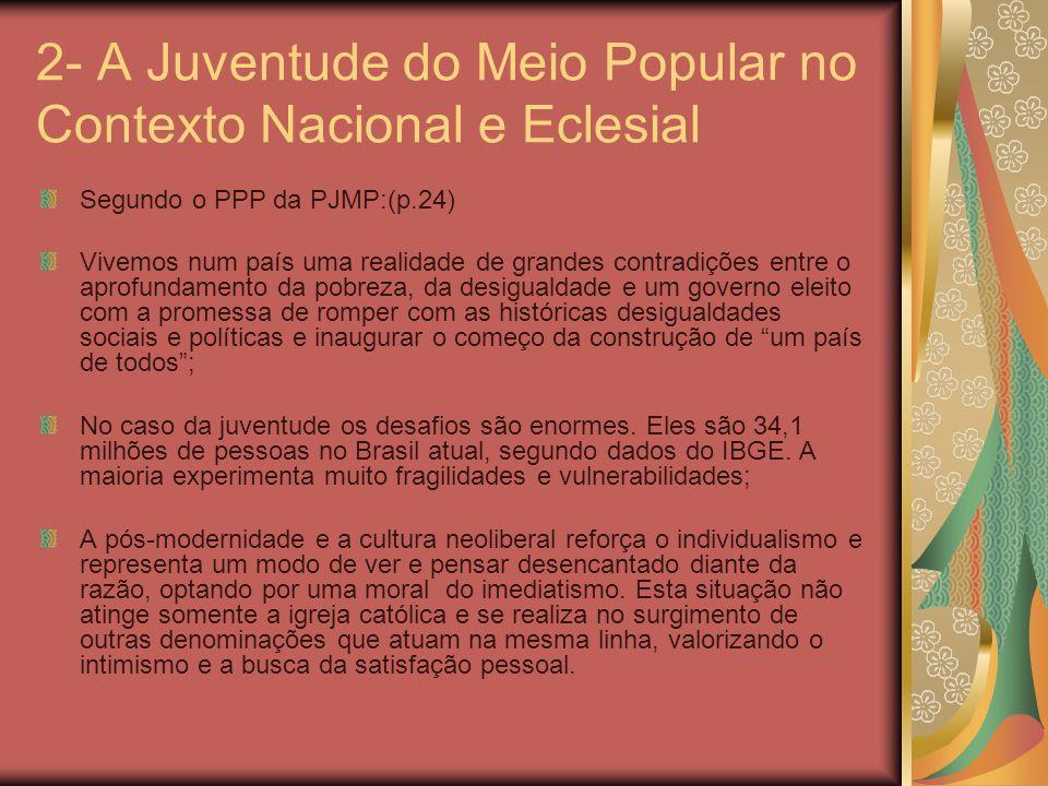 2- A Juventude do Meio Popular no Contexto Nacional e Eclesial