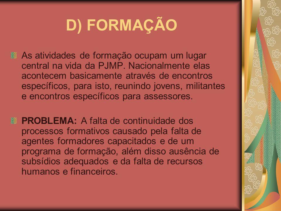 D) FORMAÇÃO
