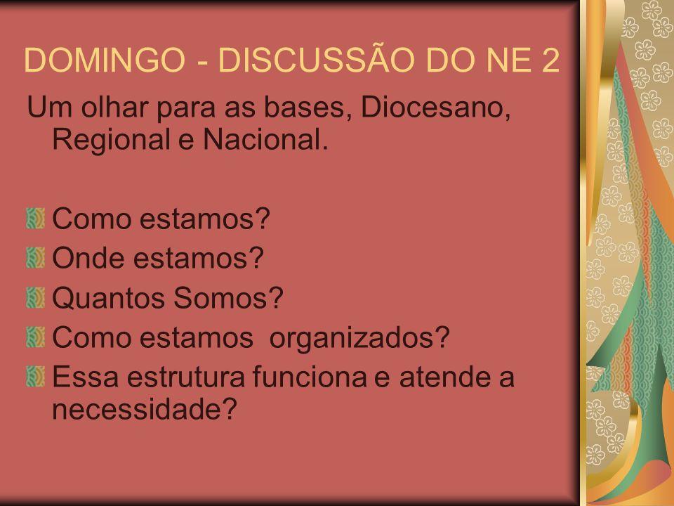 DOMINGO - DISCUSSÃO DO NE 2