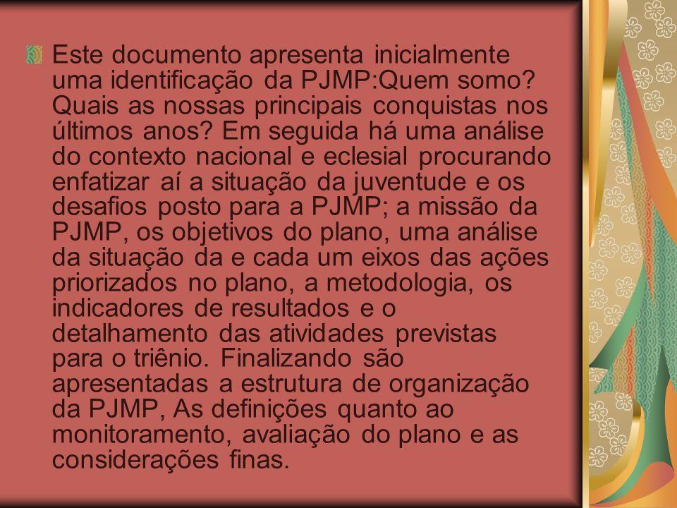Este documento apresenta inicialmente uma identificação da PJMP:Quem somo.