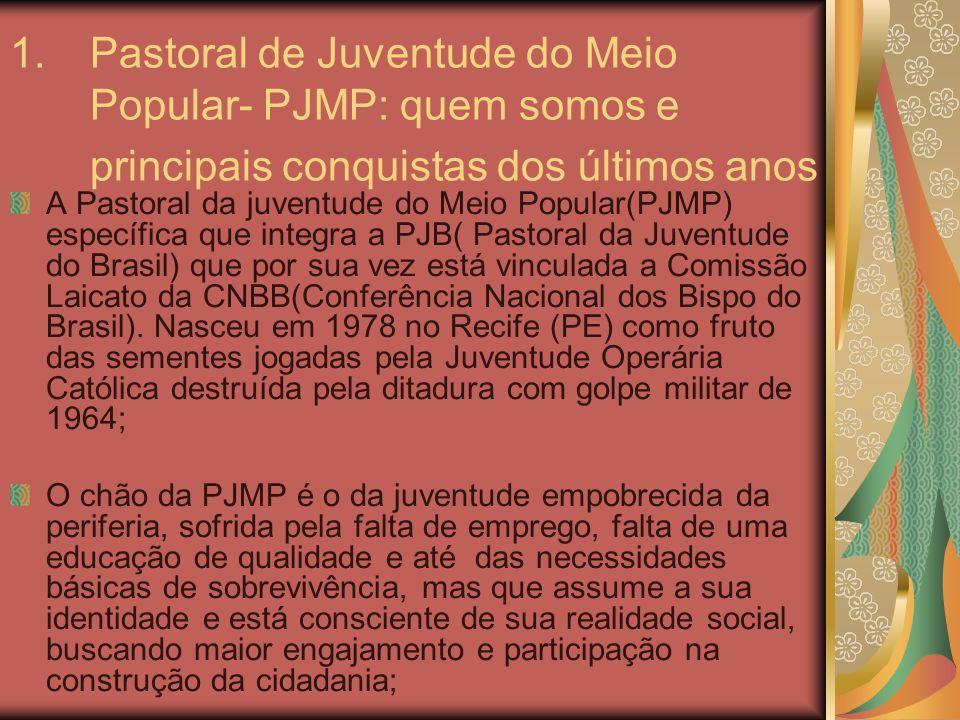 Pastoral de Juventude do Meio Popular- PJMP: quem somos e principais conquistas dos últimos anos