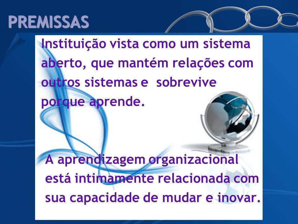 PREMISSAS Instituição vista como um sistema