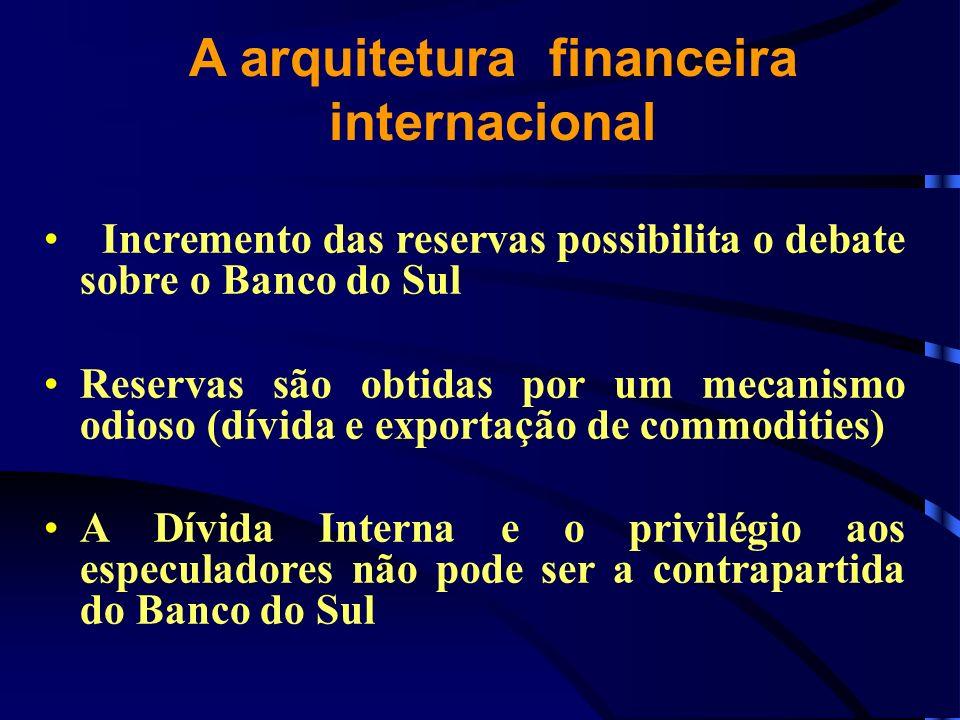 A arquitetura financeira internacional