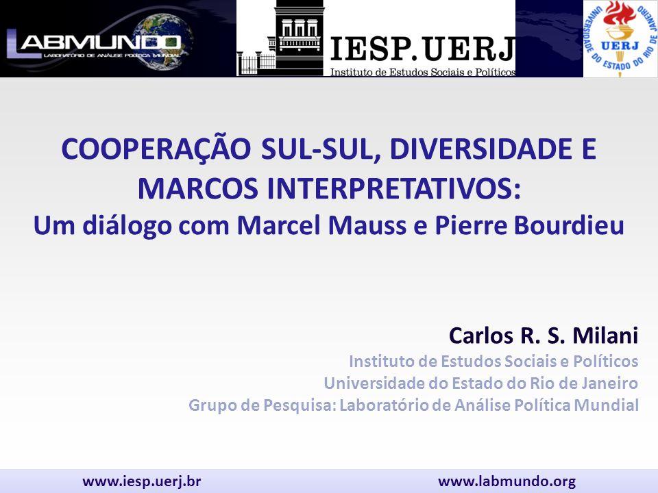 COOPERAÇÃO SUL-SUL, DIVERSIDADE E MARCOS INTERPRETATIVOS: