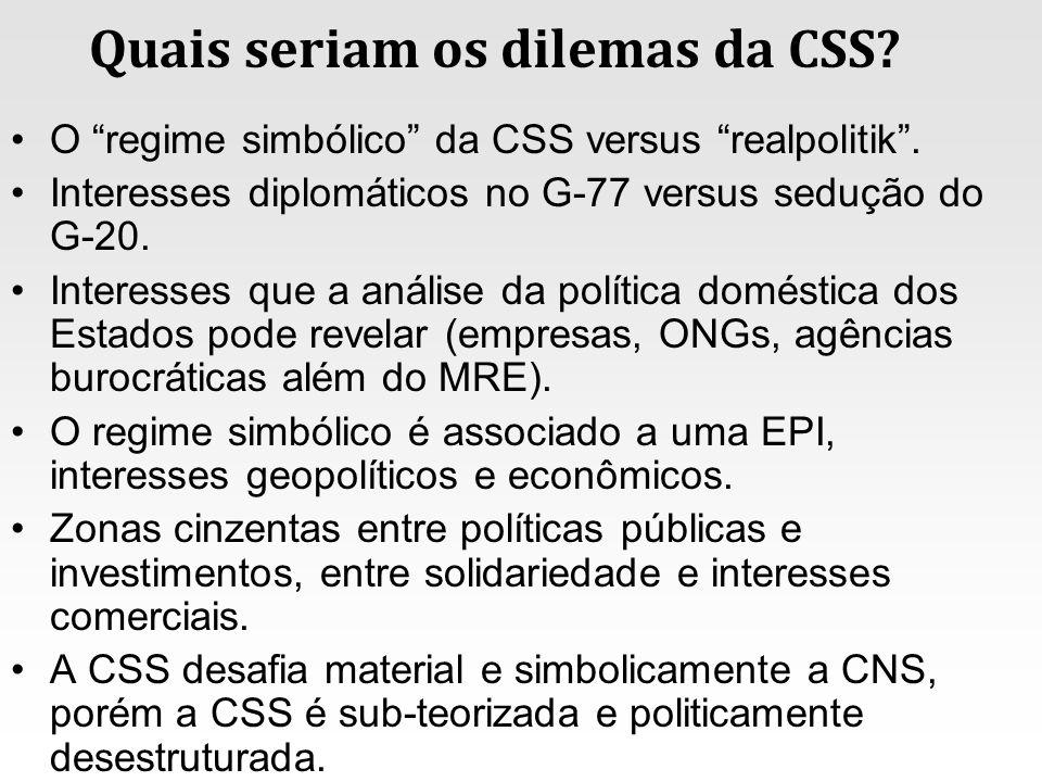 Quais seriam os dilemas da CSS