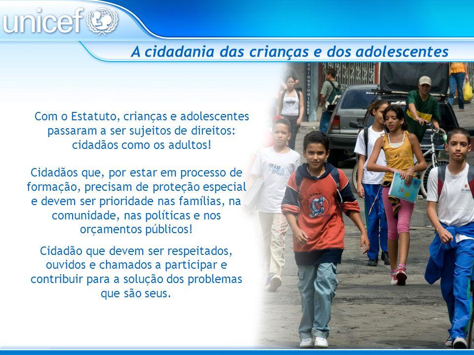 A cidadania das crianças e dos adolescentes