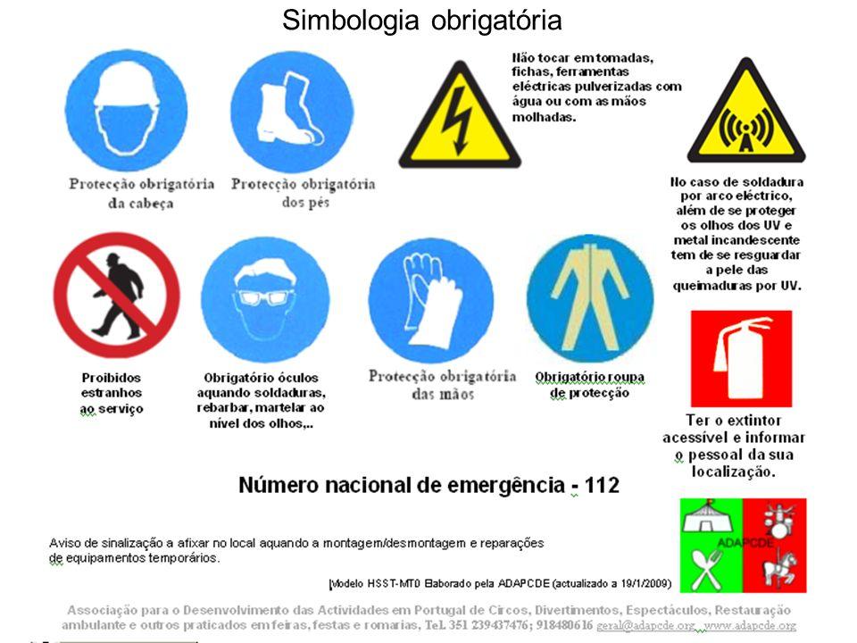 Simbologia obrigatória