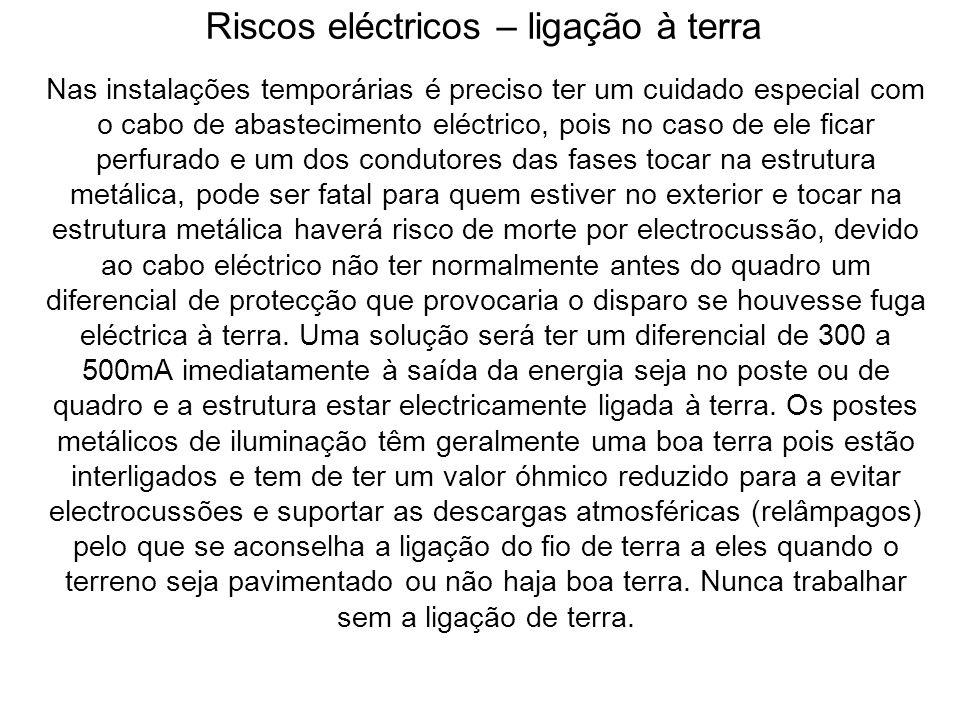 Riscos eléctricos – ligação à terra