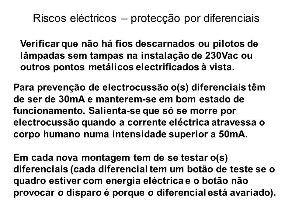 Riscos eléctricos – protecção por diferenciais
