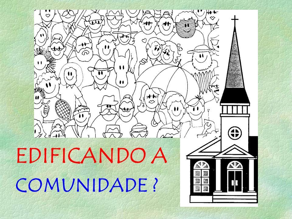 EDIFICANDO A COMUNIDADE