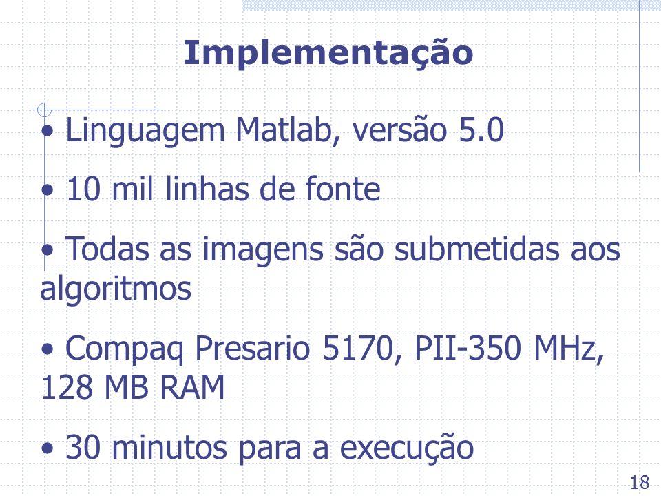 Linguagem Matlab, versão 5.0 10 mil linhas de fonte