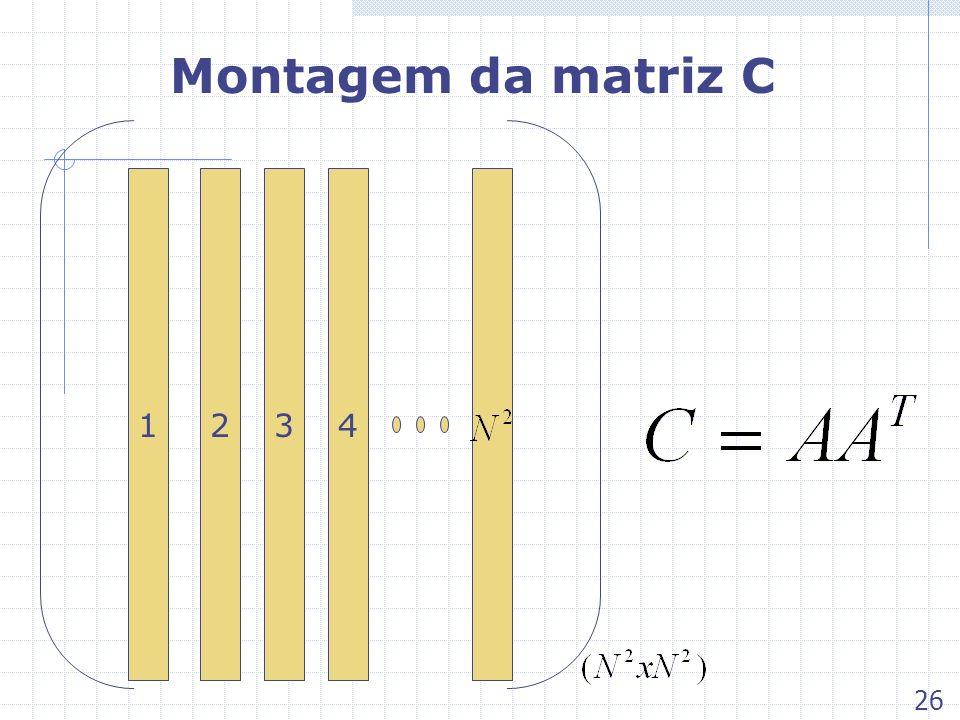 Montagem da matriz C 1 2 3 4 26