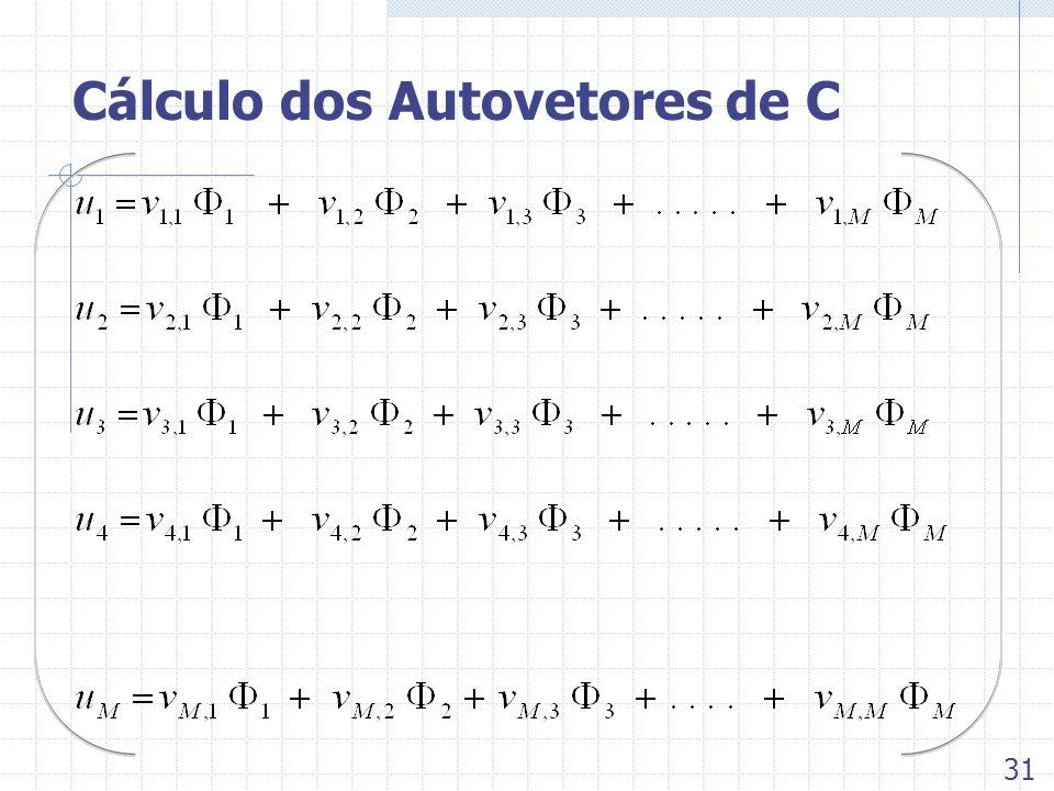 Cálculo dos Autovetores de C