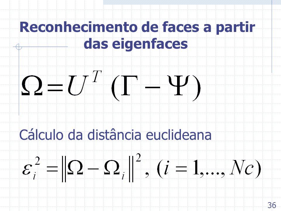 Reconhecimento de faces a partir das eigenfaces