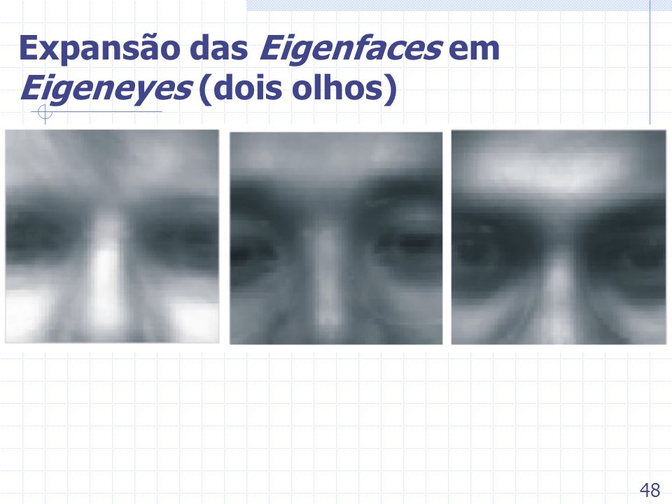 Expansão das Eigenfaces em Eigeneyes (dois olhos)