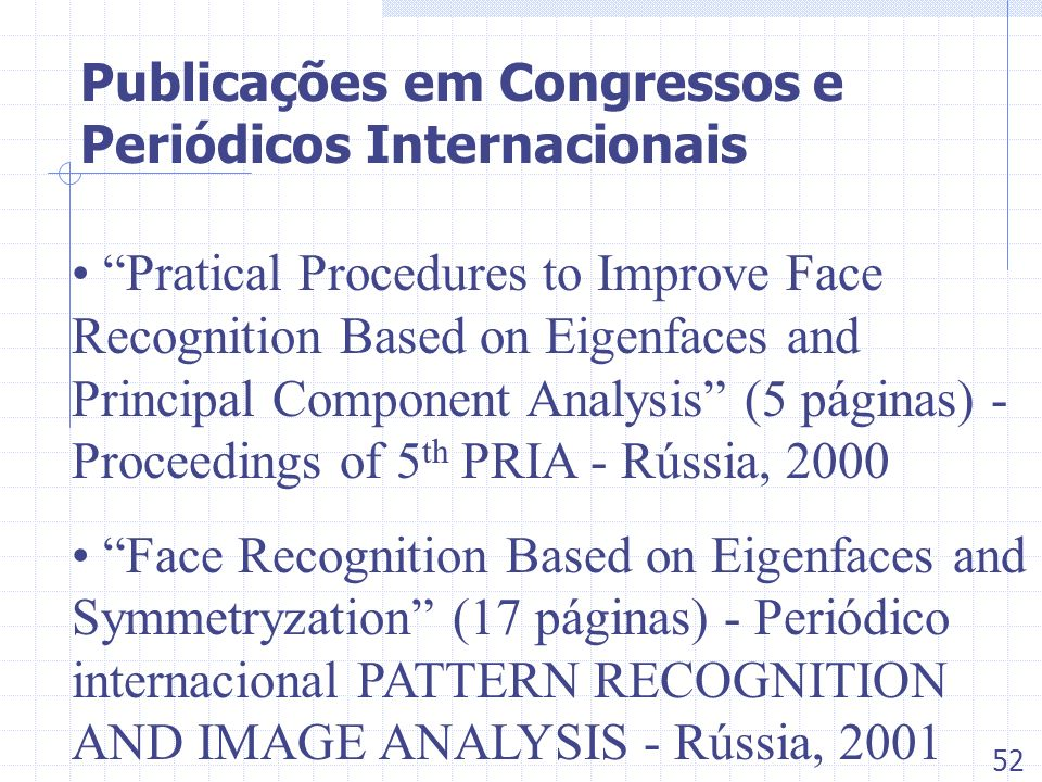 Publicações em Congressos e Periódicos Internacionais