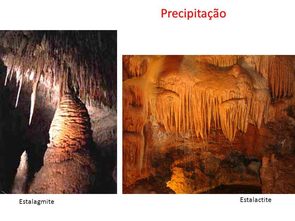Precipitação Estalactite Estalagmite