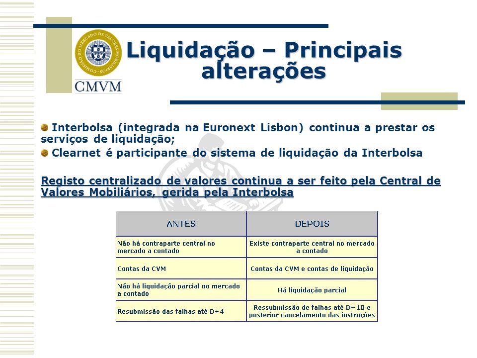 Liquidação – Principais alterações