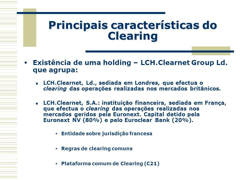Principais características do Clearing