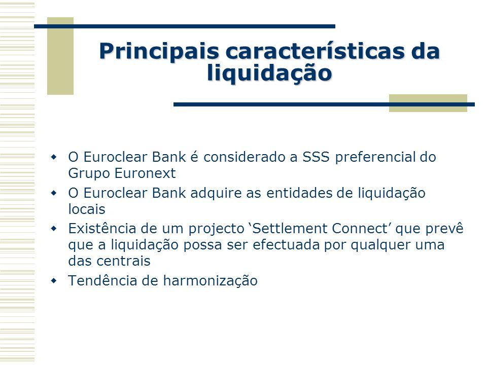 Principais características da liquidação