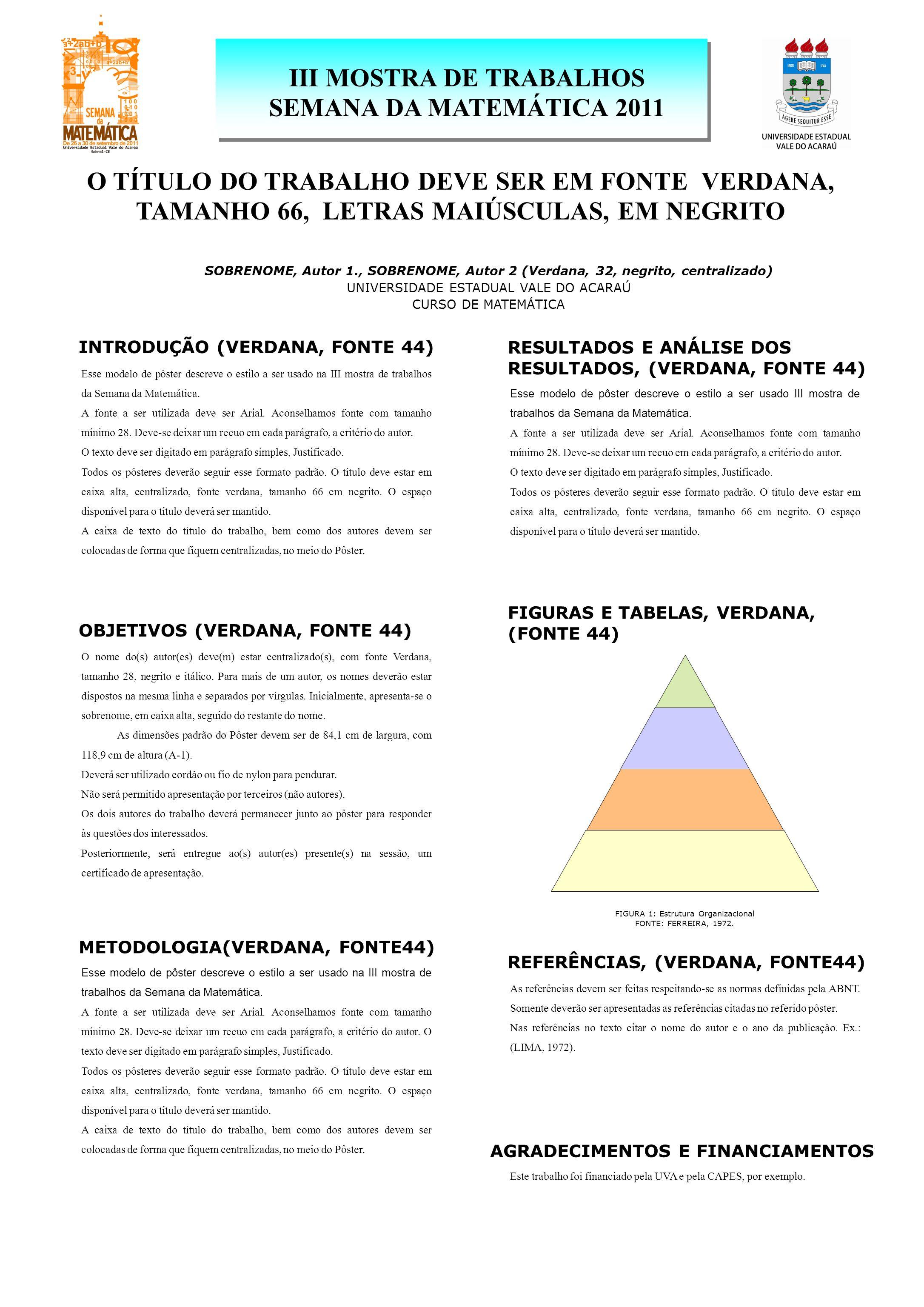 III MOSTRA DE TRABALHOS SEMANA DA MATEMÁTICA 2011