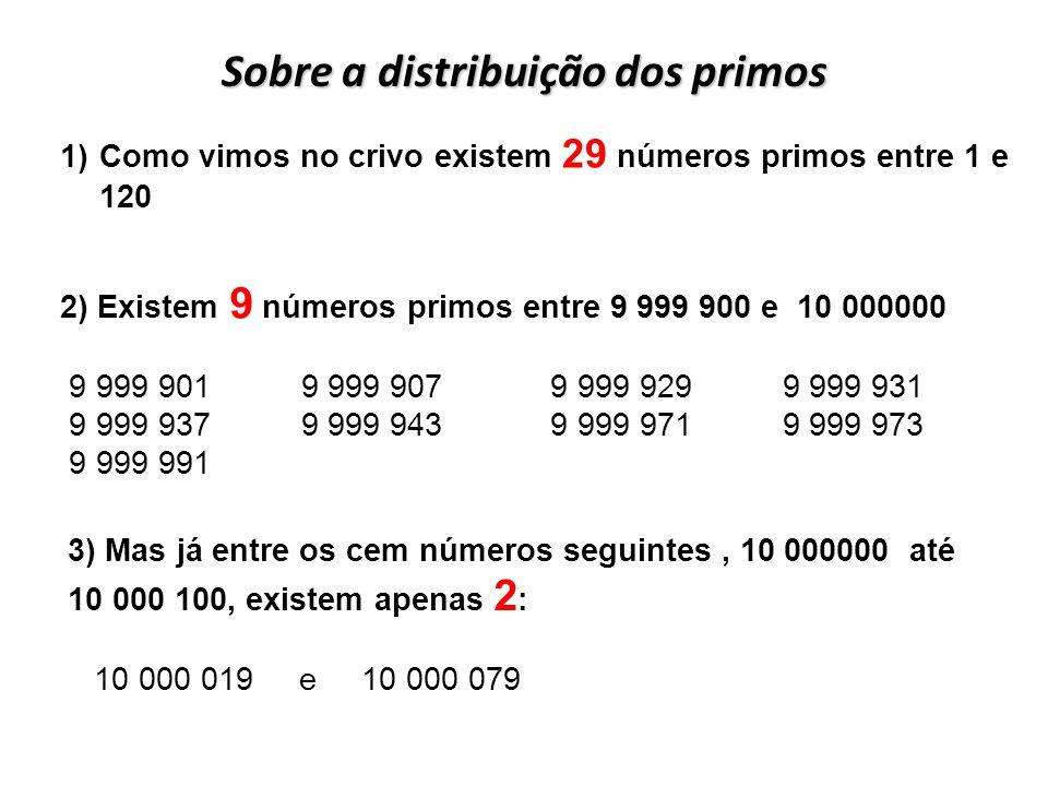 Sobre a distribuição dos primos